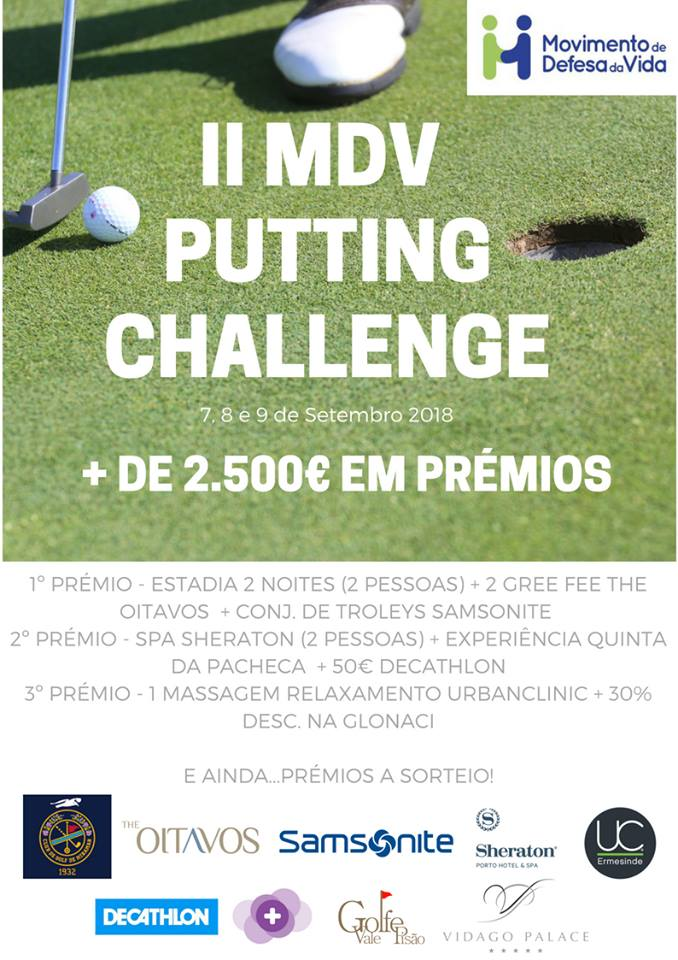 Cartaz MDV Putting Challenge 2018